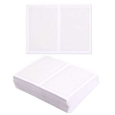 100-Pack Self-Adhesive Business Card Holders - Side Open, Clear