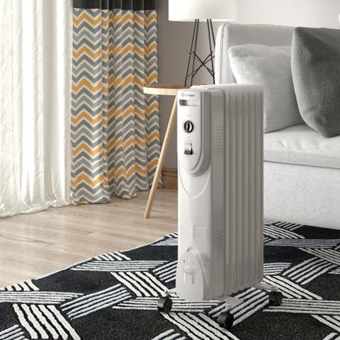 1500W Electric Heater Oil Filled Radiator Space Warmer Portable