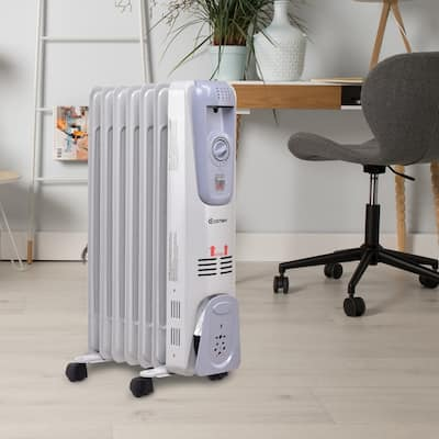 1500W Portable Electric Heater Oil Filled Radiator Space Warmer