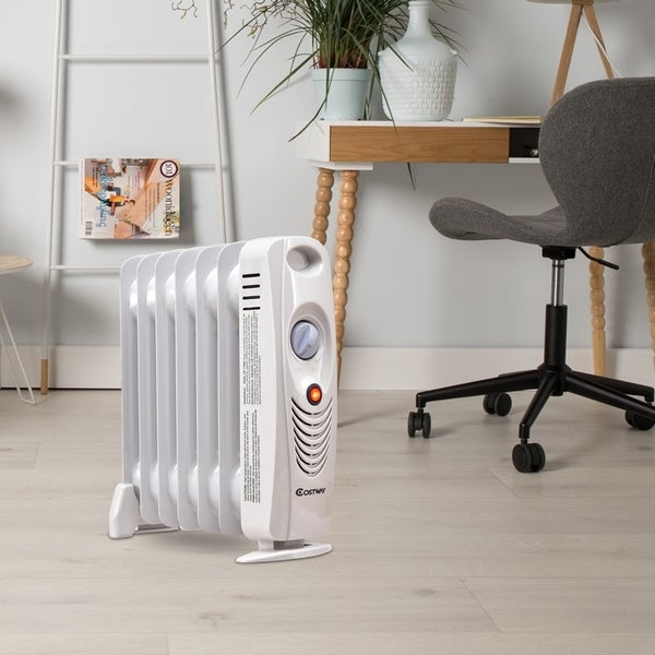700W Portable Electric Heater Oil Filled Radiator Space Warmer. Opens flyout.