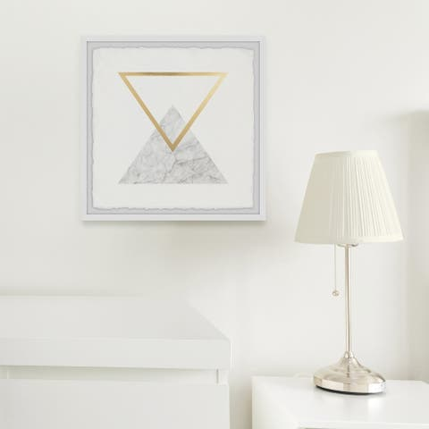 Silver Orchid The Aether Triangle' Framed Painting Print