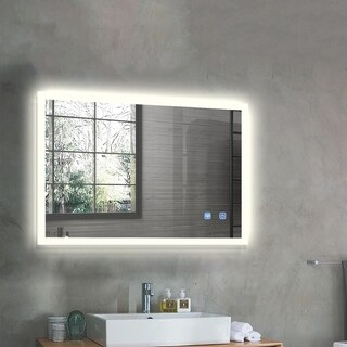 Strick & Bolton Wall-mounted LED Horizontal Bathroom Mirror