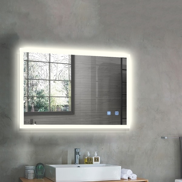 Strick & Bolton Wall-mounted LED Horizontal Bathroom Mirror