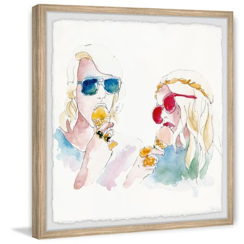 'Cool Hippies' Framed Painting Print