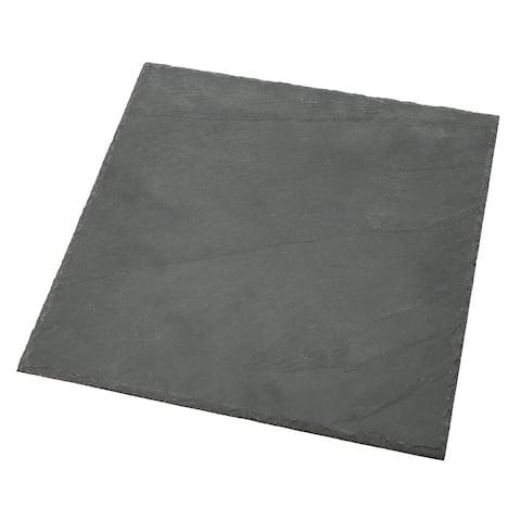 "Creative Home Slate 12"" x 12"" Cheese Board, Serving Platter"