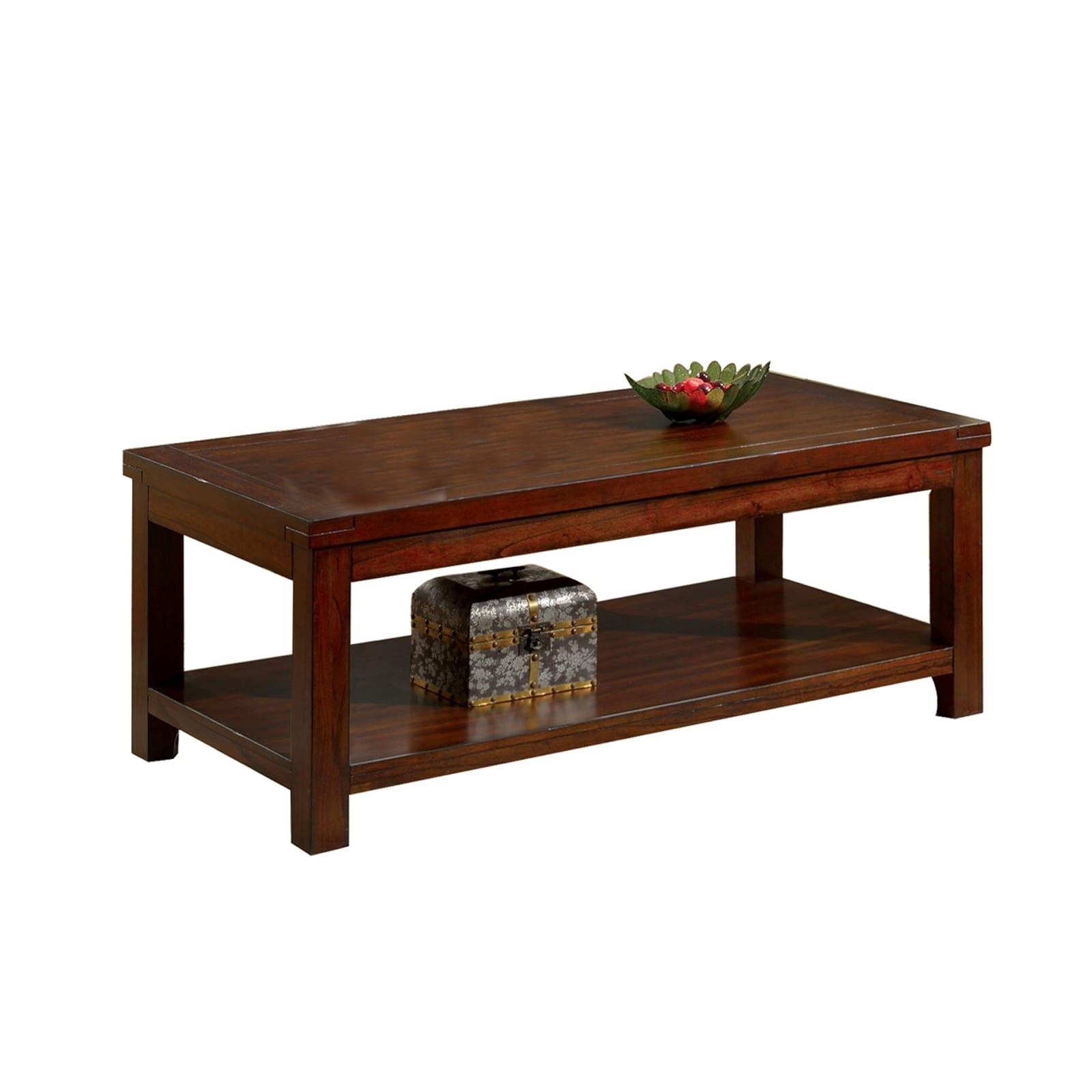Picture of: Traditional Coffee Table With Rectangular Top And Tapered Legs Brown On Sale Overstock 30243161