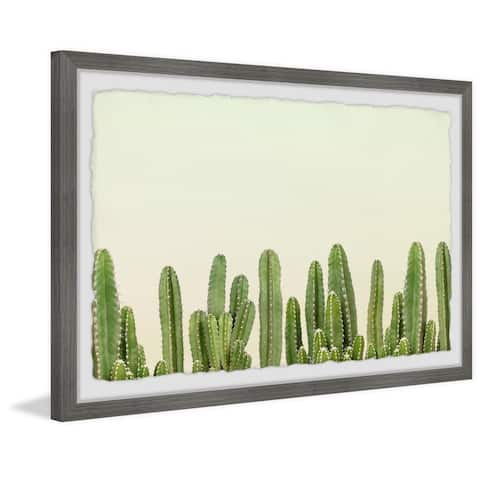 'Cactus Wall' Framed Painting Print