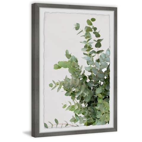 'Evergreen Shrub' Framed Painting Print