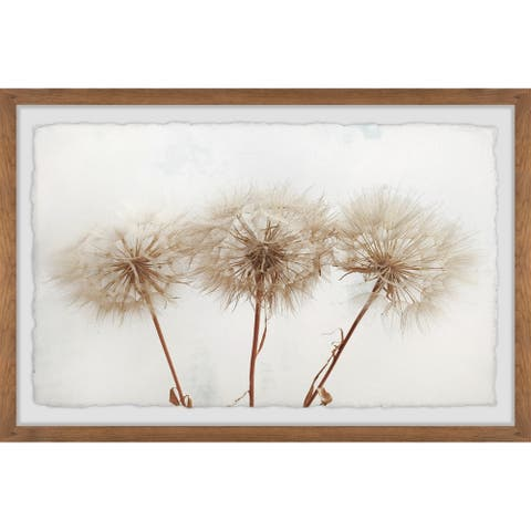 Copper Grove Dandelion Trio Framed Painting Print