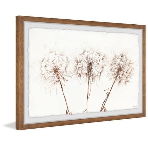 Copper Grove Dandelion Trio II Framed Painting Print