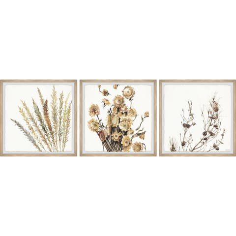 Copper Grove Sunflower Bouquet II Triptych