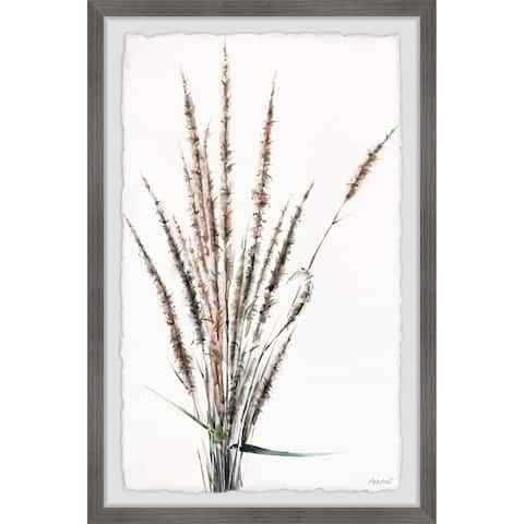 Gracewood Hollow Dried Grass Stems Framed Painting Print