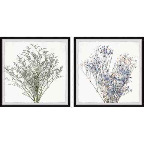 Flowering Shrub Diptych