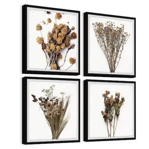 Dried Flowers Quadriptych