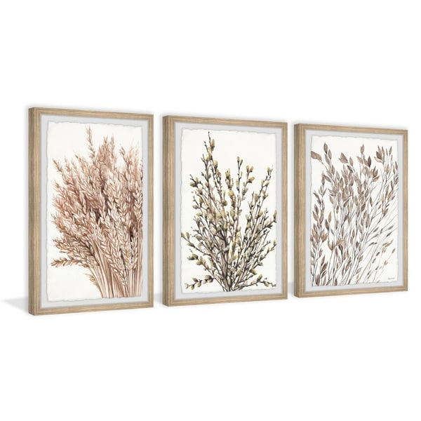 Dried Wheat Triptych. Opens flyout.