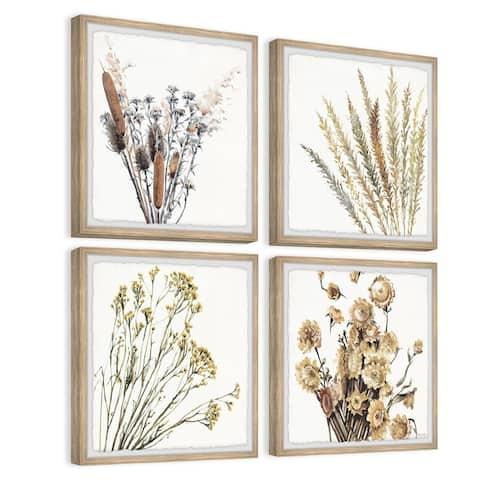 Diverse Flowers Quadriptych