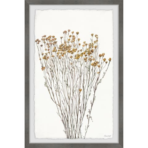 Gracewood Hollow Flowering Branches Framed Painting Print