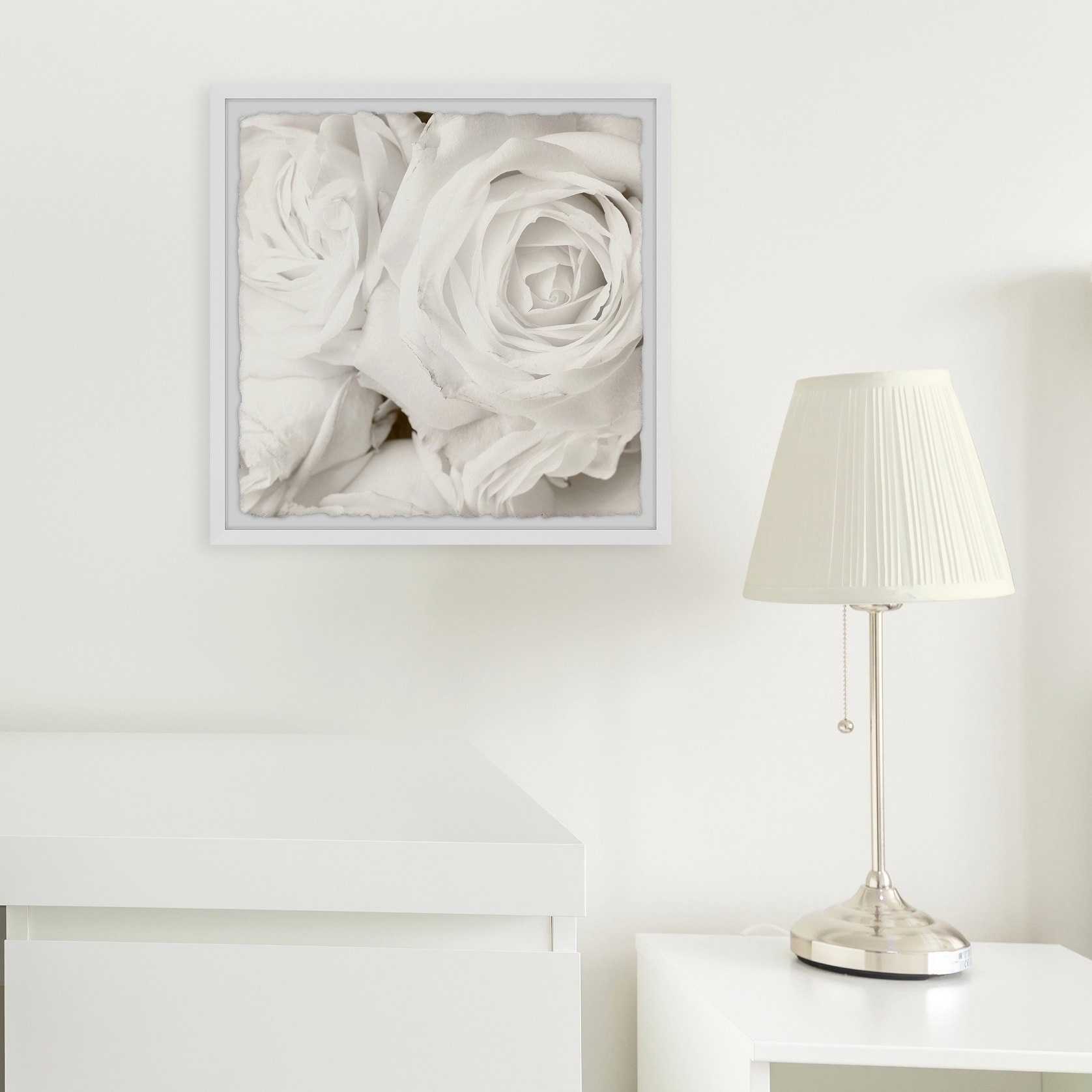 Gracewood Hollow Creamy White Roses Framed Painting Print On Sale Overstock 30243365