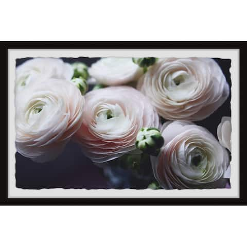 Gracewood Hollow Delicate Rose Petals Framed Painting Print