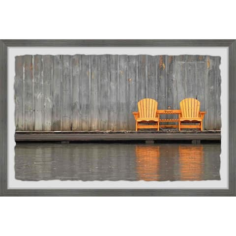 The Gray Barn 'Golden Chairs' Framed Painting Print