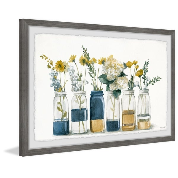 'Two Tone Bottles' Framed Painting Print. Opens flyout.
