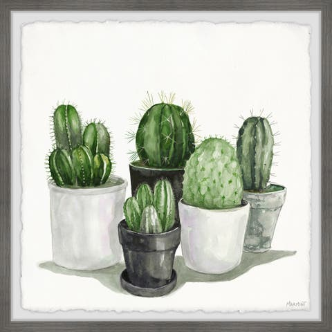 The Gray Barn Handmade Pointy Spikes Succulents Framed Painting Print