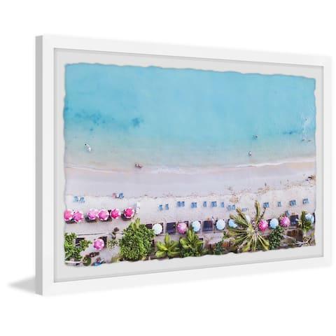 Sun Umbrellas' Framed Painting Print