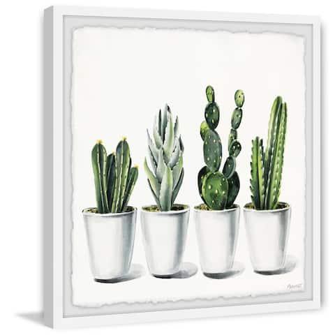 The Gray Barn Handmade White Succulent Pots Framed Painting Print