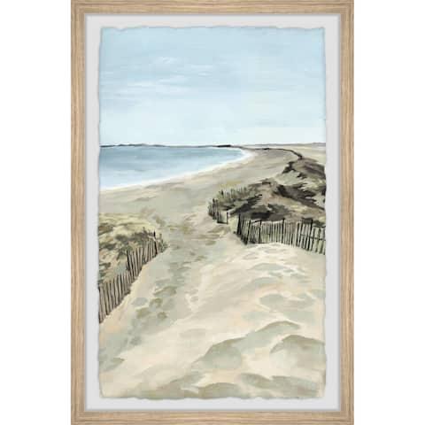 Porch & Den Handmade 'Tranquil Coastline' Framed Print