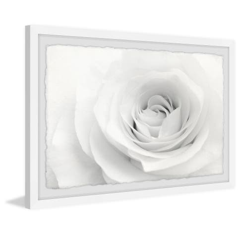 Silver Orchid White Layers' Framed Painting Print