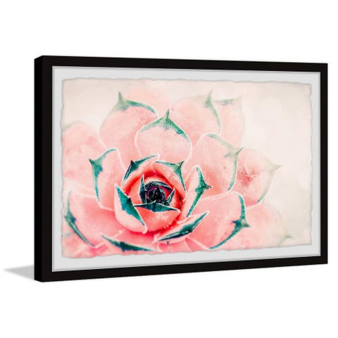 Carson Carrington Bright Pink Cactus' Framed Painting Print