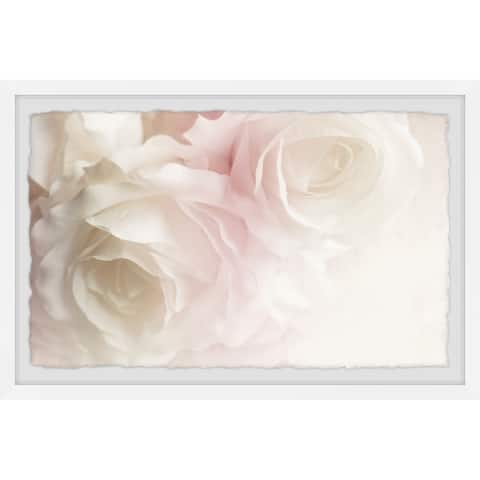 Gracewood Hollow Heavenly White Bouquet Framed Painting Print