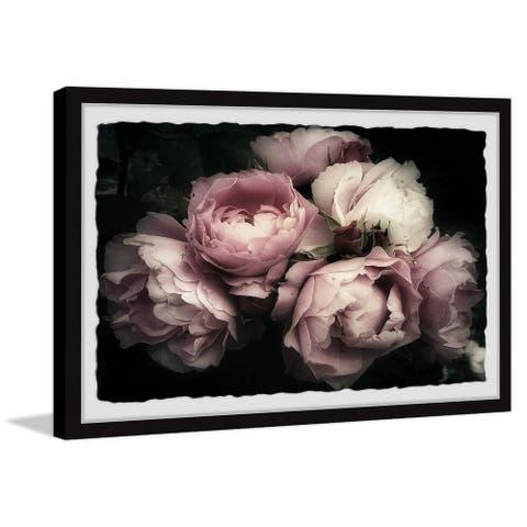 Gracewood Hollow Handmade Delicate Pink Flowers Framed Painting Print