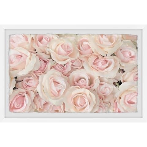 Gracewood Hollow White Rosebuds Framed Painting Print