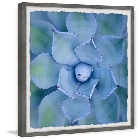 Taylor & Olive Frosty Blue Leaves Framed Print