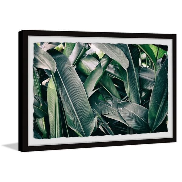Strick Bolton Tropical Banana Leaves Framed Print Overstock 30243549