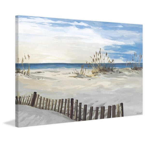 'Buried Fences' Painting Print on Wrapped Canvas