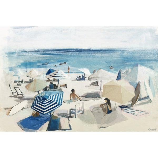 'A Day at the Beach' Painting Print on Wrapped Canvas