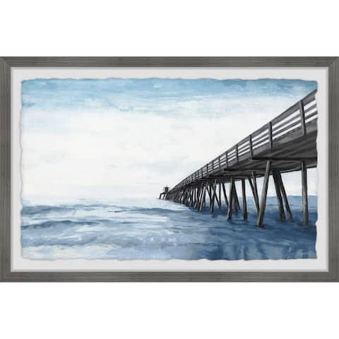 'Wooden Pier' Framed Painting Print