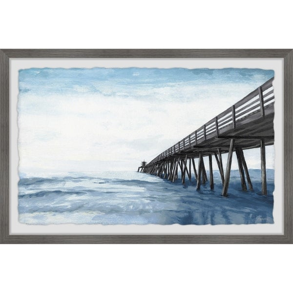 'Wooden Pier' Framed Painting Print. Opens flyout.
