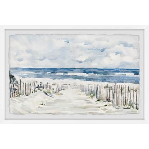 'Coastal Pathway' Framed Painting Print