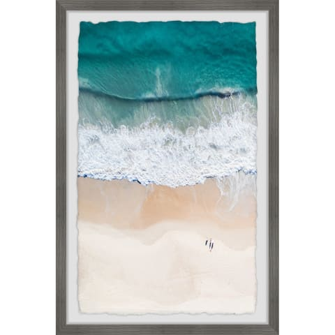 Waves and Shorelines' Framed Painting Print