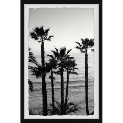 Strick & Bolton Swami's Surf Beach Framed Print