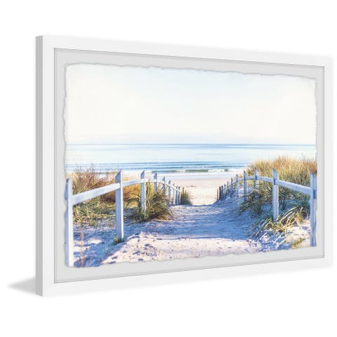 Path to the Beach' Framed Painting Print