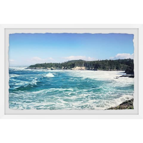 Gracewood Hollow Rough Seas and Waves Framed Painting Print
