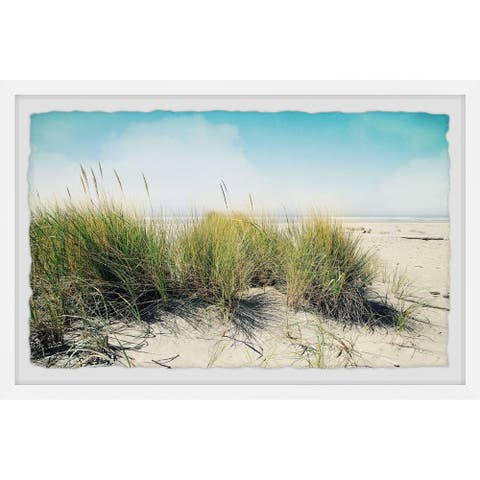 Gracewood Hollow Beach Grass Framed Painting Wall Print