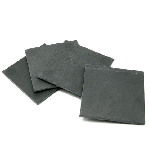 Creative Home Natural Slate Stone Set of 4 coasters