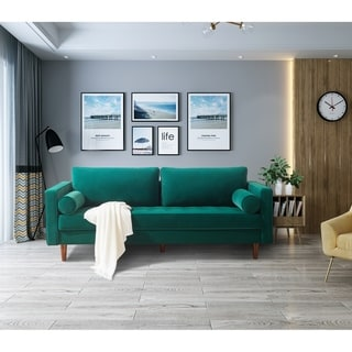 Velvet fabric Bench Sectional Couch Sofa