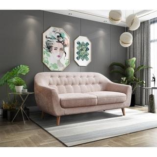 Contemporary Modern Sofa, Fabric