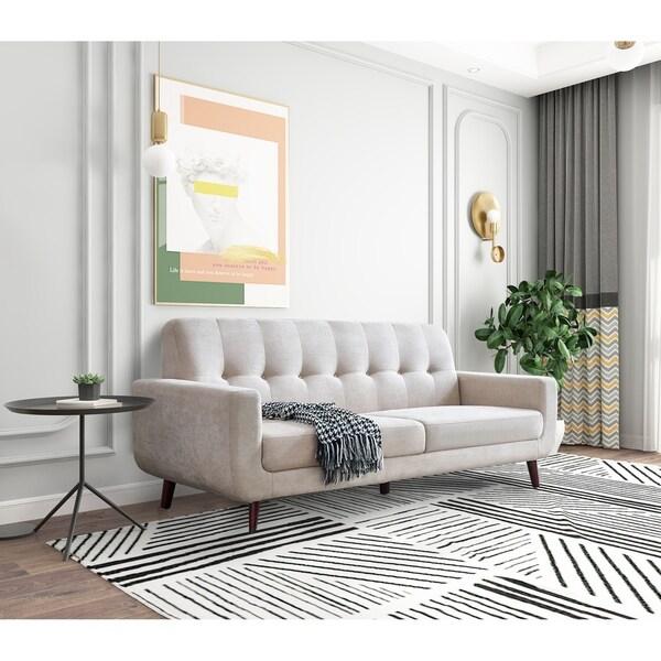 Mid-Century Modern Fabric Sofa